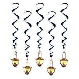 Hangdecoratie Western lantaarns -  Vijf prachtige decoraties in western stijl om op te hangen. Lengte: 100cm. | www.feestartikelen.nl