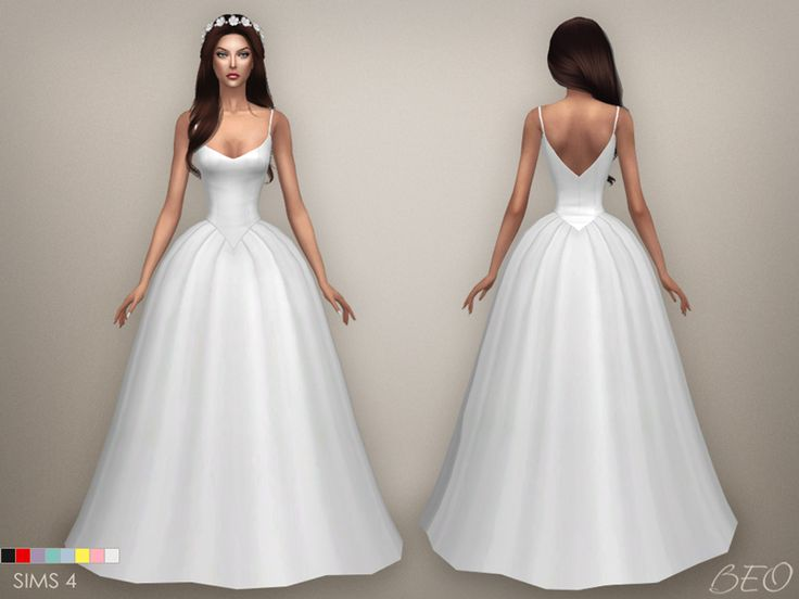 Wedding dress - Lily for The Sims 4 by BEO