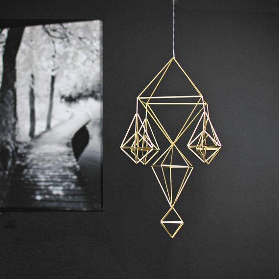 Himmeli no. 7 | Modern Hanging Mobile | Geometric Art Sculpture | Minimalist Home Decor