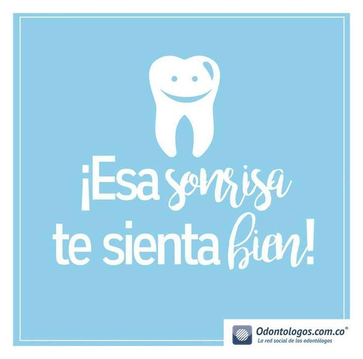 ¡Esa sonrisa te sienta bien! Feliz viernes para todos #OdontólogosCol #Odontólogos