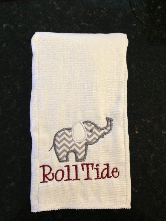 Alabama Baby Burp Cloth by McCleskeysMonograms on Etsy, $10.00