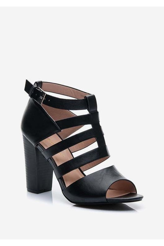 Sandały na obcasie Abbi czarne