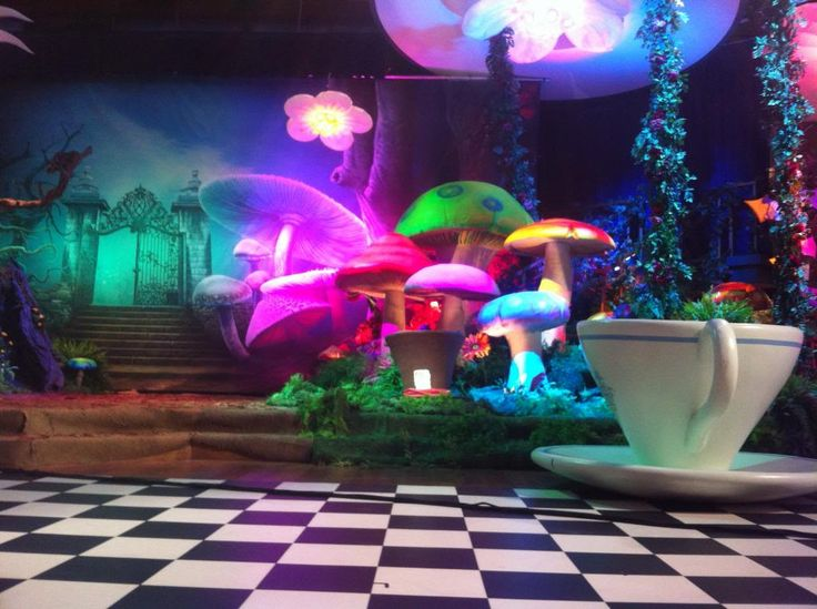 wonderland decorations   choose from a wide variety of our themed props to decorate your tv set ...