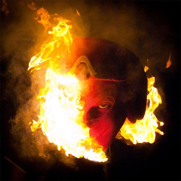 devil' matchstick head burning