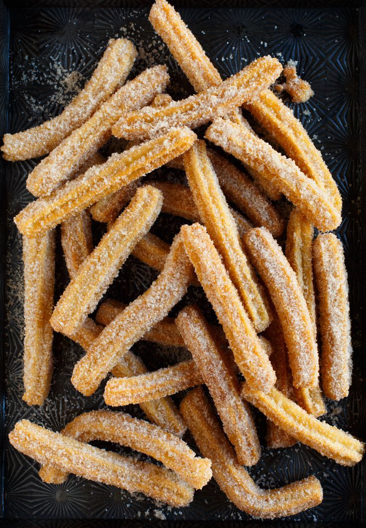 Making homemade Mexican churros  /