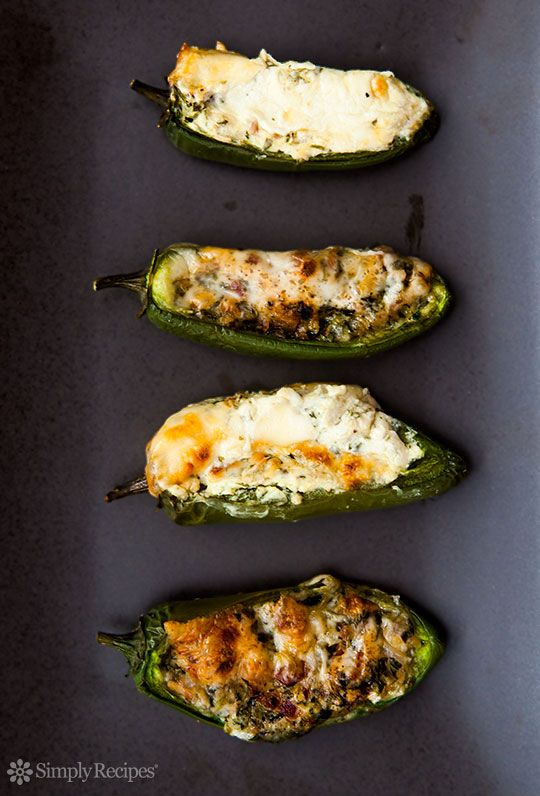 Baked Stuffed Jalapeños ~ Baked jalapeños stuffed with cheese ...