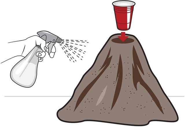How to make a volcano science project.