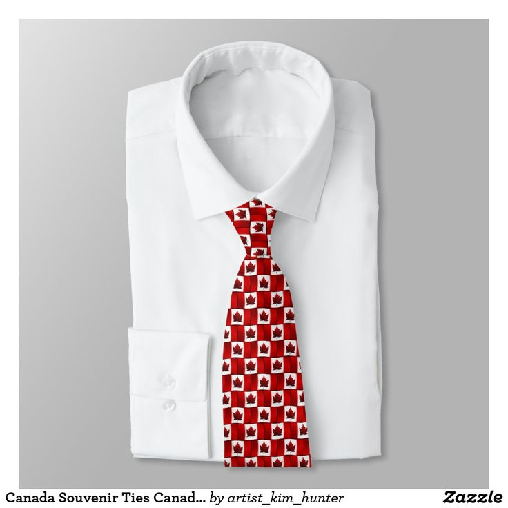 Canada Souvenir Ties Canada Flag Neckties  Gifts