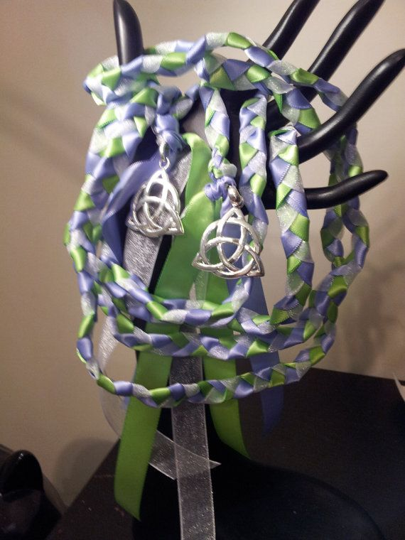 Spring Triquetra  Wedding Hand Fasting/ Binding Cord ~ Celtic