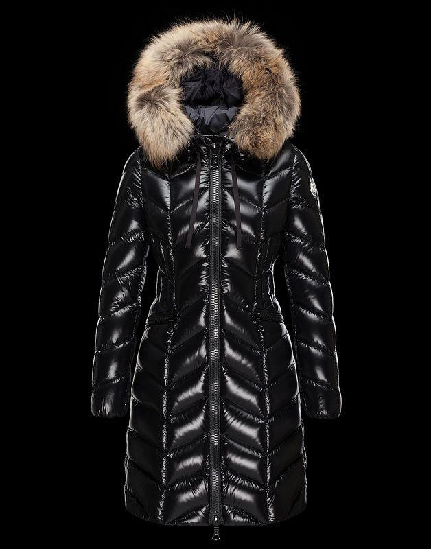 Moncler Long Coat With Fur