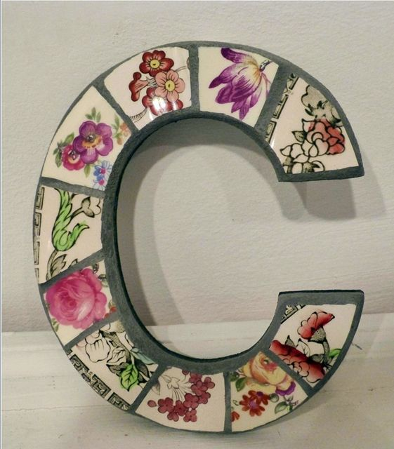 1000 images about mosaic letters and numbers on pinterest - Manualidades para decorar tu casa ...