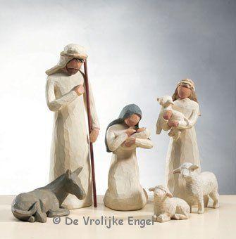 Willow Tree De Heilige familie met herder - De Vrolijke Engel