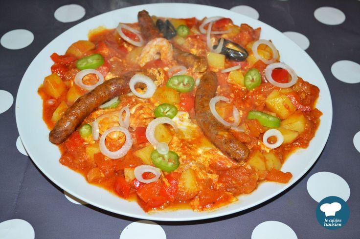 Chakchouka recette tunisienne la cuisine tunisienne for Cuisine tunisienne