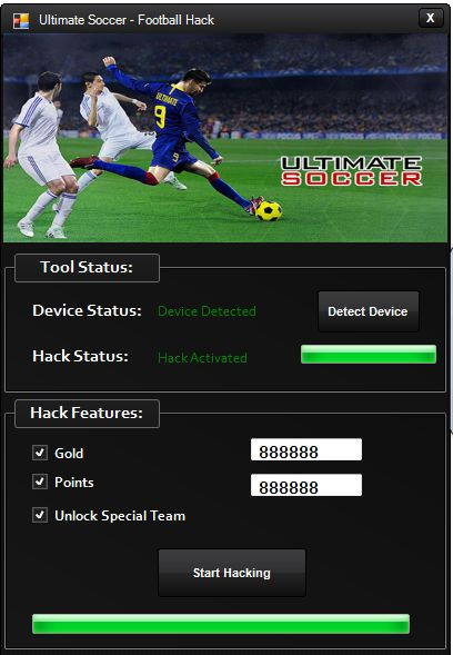 http://www.hackspedia.com/ultimate-soccer-football-android-ios-hack-cheats-tool/