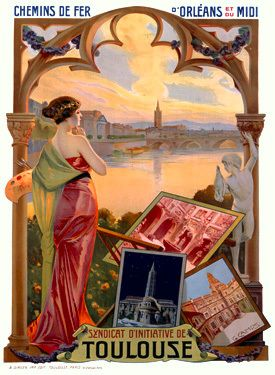 Toulouse travel poster