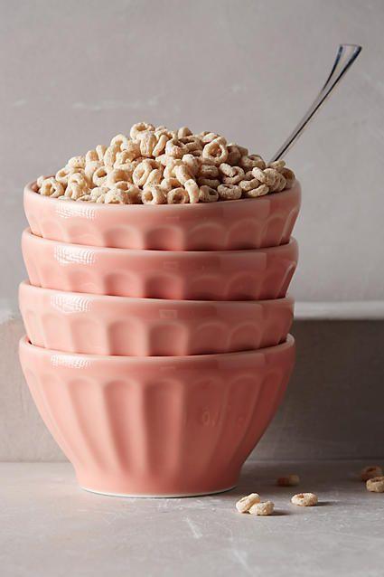 Anthropologie Latte Bowl Set | blush pink kitchen decor | home decor | pink bowl set | feminine home decor (affiliate link)