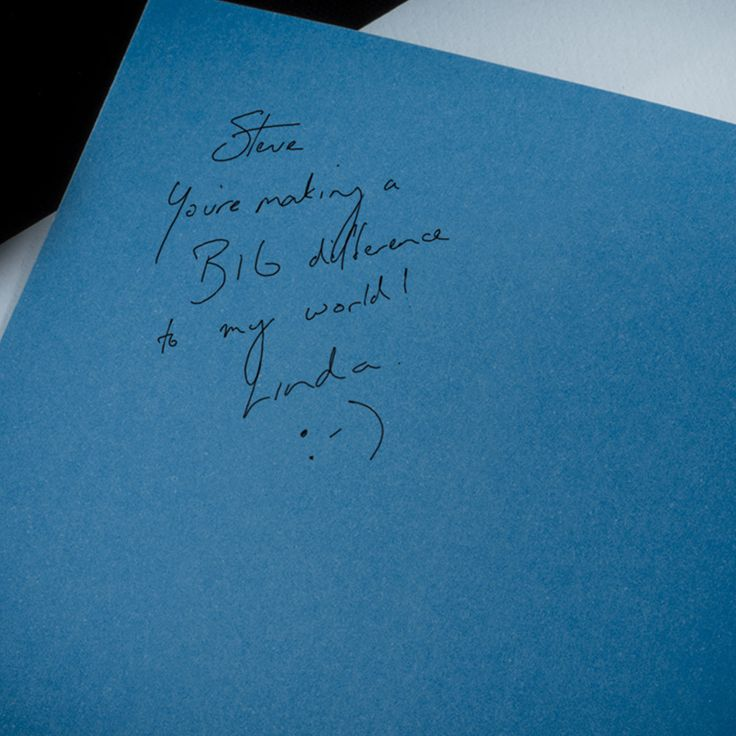 A personalised message can be handwritten inside the journal cover - they'll think of you, every time they use it.