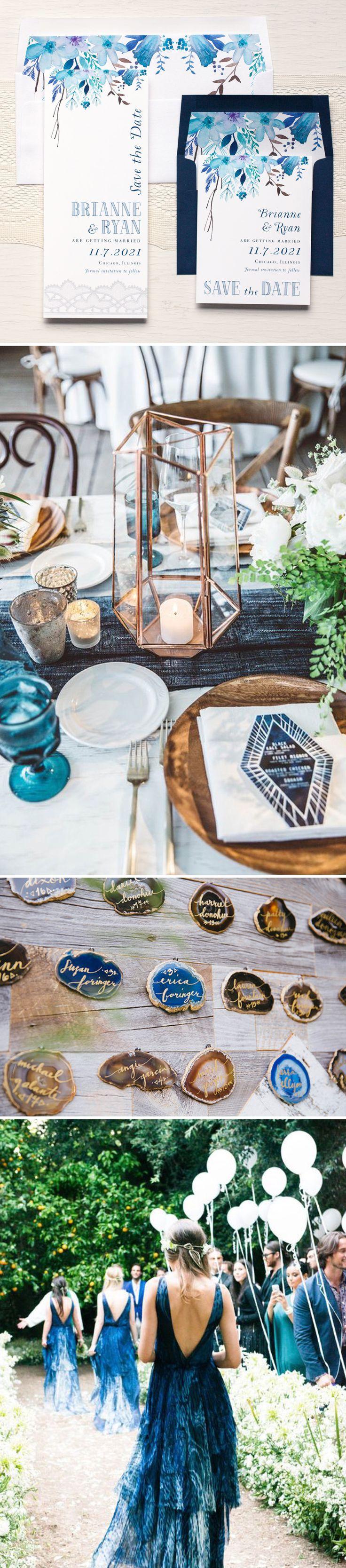 Blue & Copper Boho Wedding Inspiration