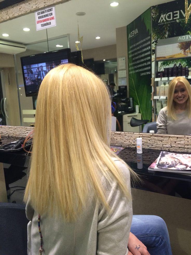 Aveda blond hair