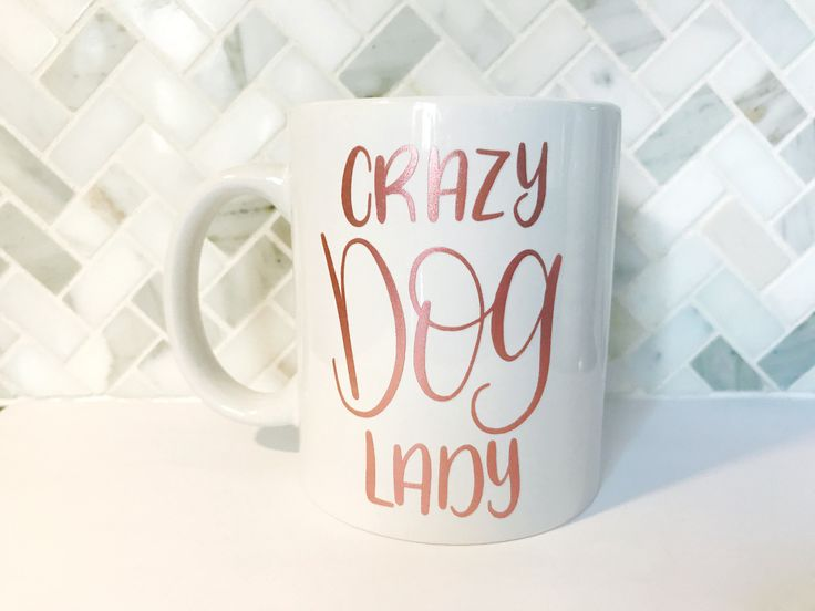 Crazy Dog Lady Coffee Mug - Coffee Mug, Crazy Dog Lady Mug by TheLovelyLetteringCo on Etsy