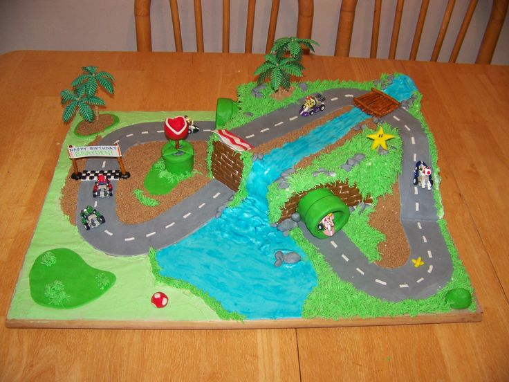 Mario+Kart+Cake+-+The+cake+I+made+for+my+son's+5th+birthday.