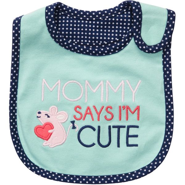 Teething Bib Carter's ❤ liked on Polyvore featuring baby, baby stuff, baby clothes, kids and baby bibs