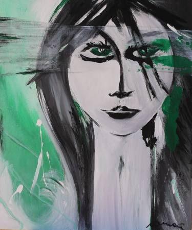 "Saatchi Art Artist Florin Coman; Painting, ""Green Eyes"" #art"