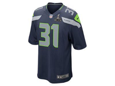 NFL Super Bowl Seattle Seahawks (Kam Chancellor) Men's Football Game Jersey