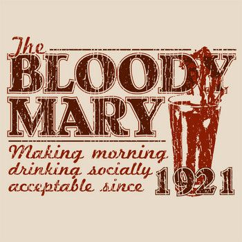 Captain Leisure » T-Shirts » Food & Drink » A Bloody Mary Morning