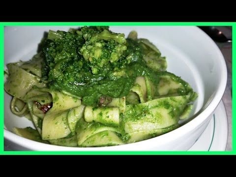 Spaghetti con crema di broccolo e ricotta aromatizzata al limone - ricetta 5 x 5 di Robysushi - YouTube