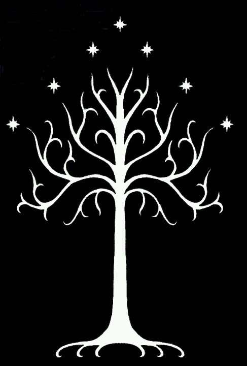 White Tree of Gondor Painting: Trees Of Gondor Paintings