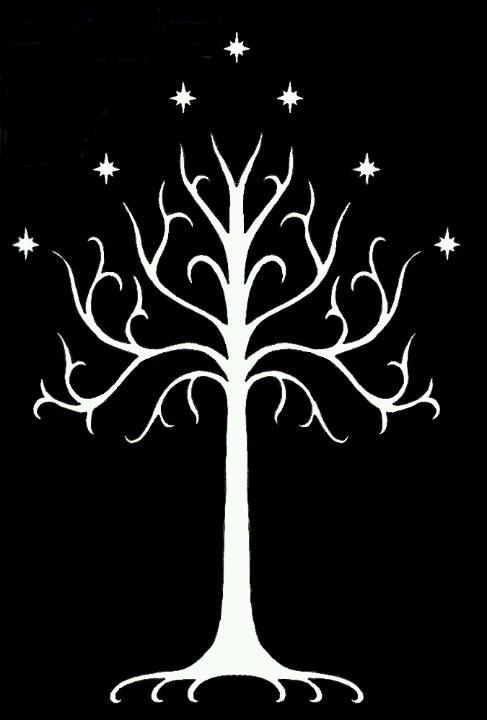 White Tree of Gondor Painting