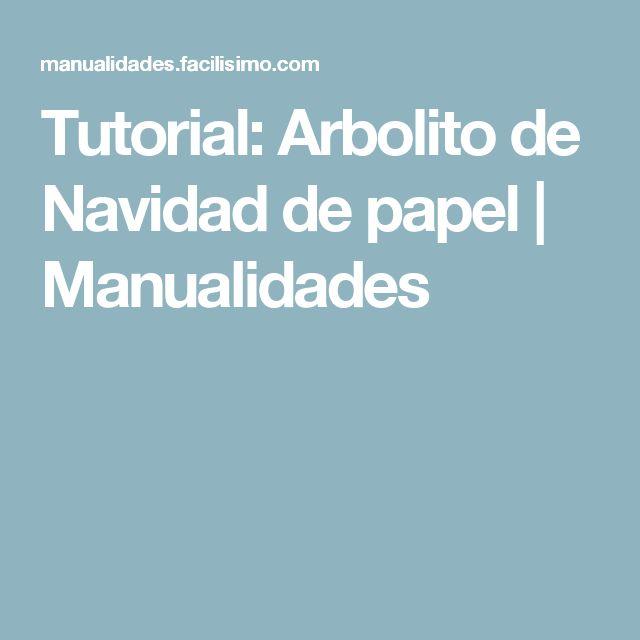 Tutorial: Arbolito de Navidad de papel | Manualidades