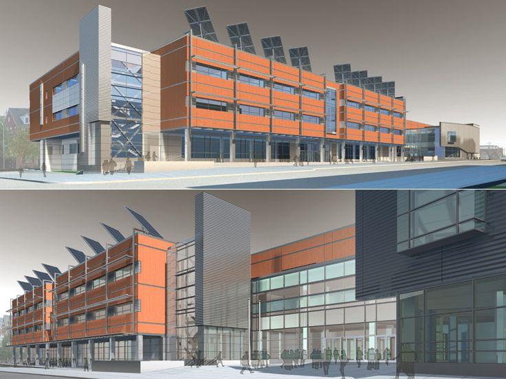 Exterior renderings architectural exterior pinterest for Exterior design school