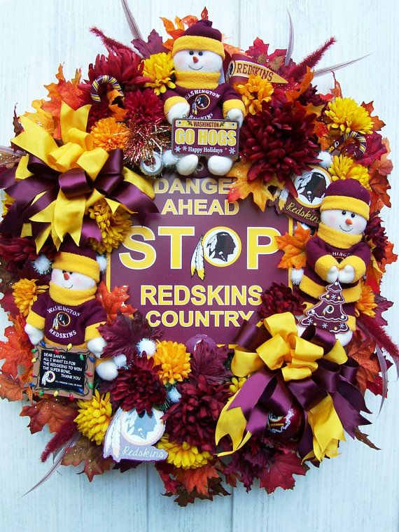 For Catherine    Football Wreath   NFL REDSKINS by UpTownOriginals.. so awesome! you could do any team!