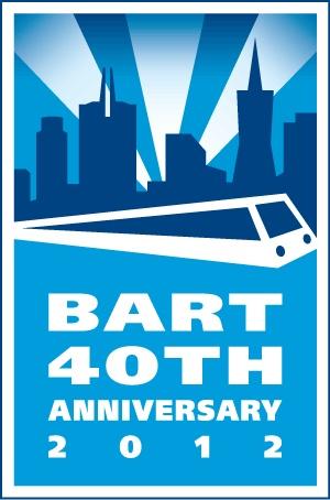 BART 40th Anniversary LogoRapid Transitional, Bays Area, Area Rapid, Anniversaries 2012, Bart Anniversaries, Bay Area, 40Th Anniversaries, 2012 Bays, Bart 40Th