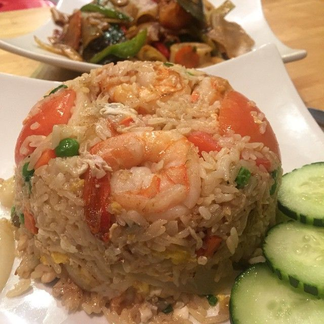 Shrimp & Chicken Fried Rice and Drunken Spicy Noodles‼️..