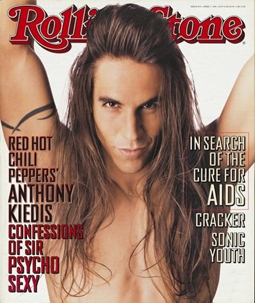 Anthony Kiedis on the cover of Rolling Stone April 07, 1994