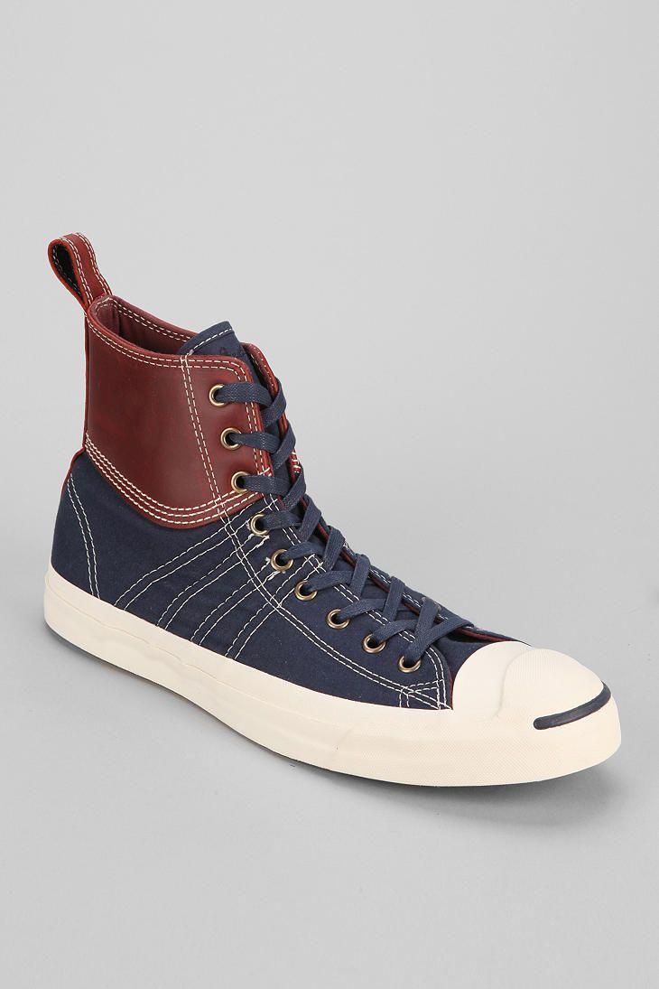 Converse Jack Purcell Duck High-Top Mens Sneaker  Little -7307