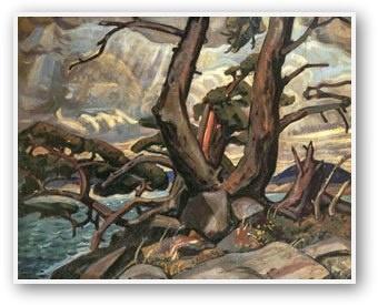 Old Pine MacGregor Bay by Arthur Lismer via groupofsevenart.com