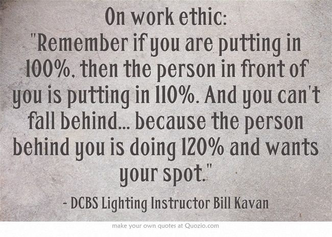 images about work ethics and more on  work ethic  work ethic quote fullsaildcbs filmmaking cinematography