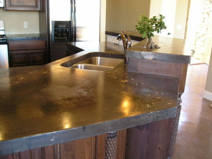 Image Result For Concrete Countertops Kitchen
