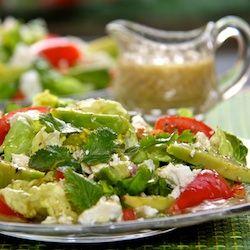 The Café Sucré Farine: Butter Lettuce & Cilantro Salad w/ Avocados & Meyer Lemon Vinaigrette