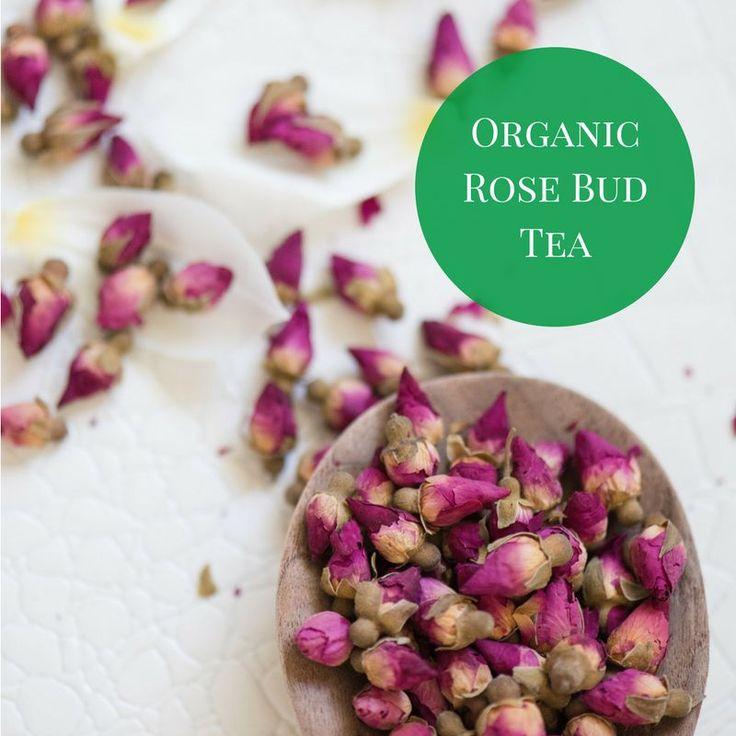 Organic Rose Bud Tea - Organic herbal tea for Caffeine Free tea drinkers