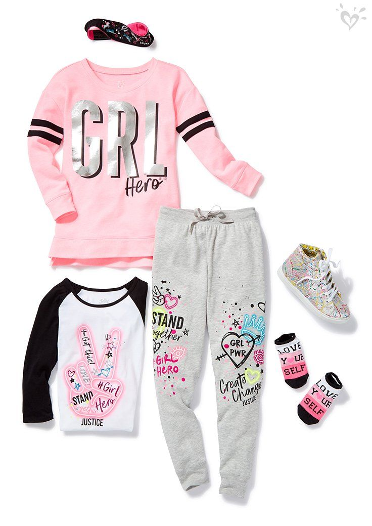 Mix-able, match-able faves detailed with doodles and popping with positive vibes.