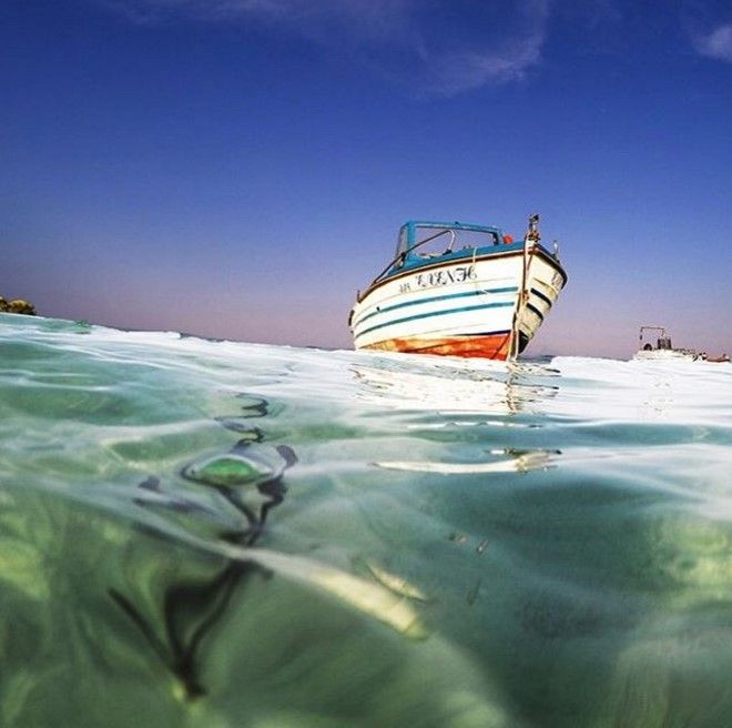 Let's go fishing at the crystal clear waters of Diaporos island! @cphotography.biz #Halkidiki