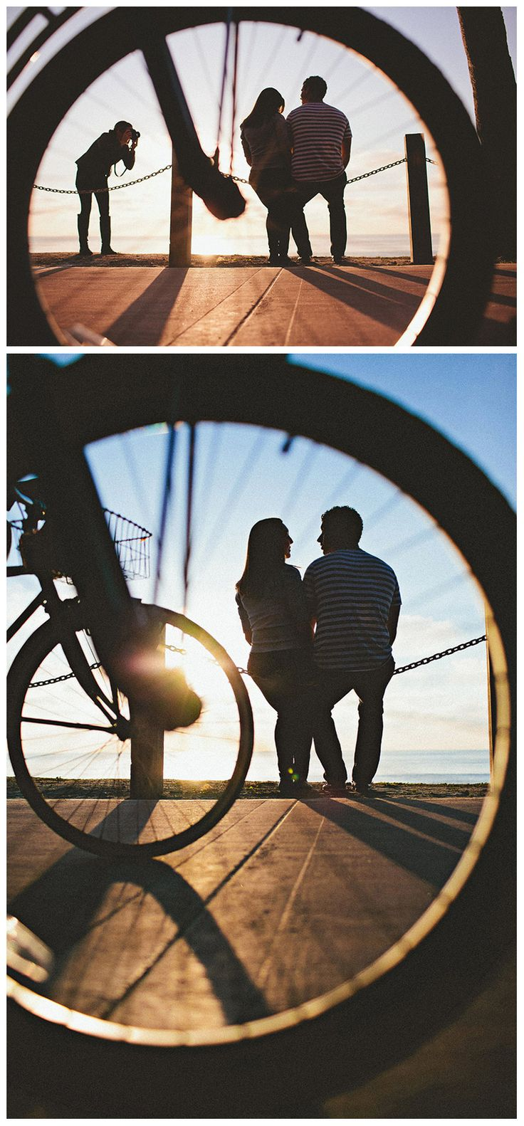 adorable photo through bike wheel