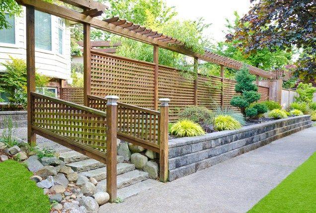 Lattice Fence Pergola Fence Topper Gates And Fencing