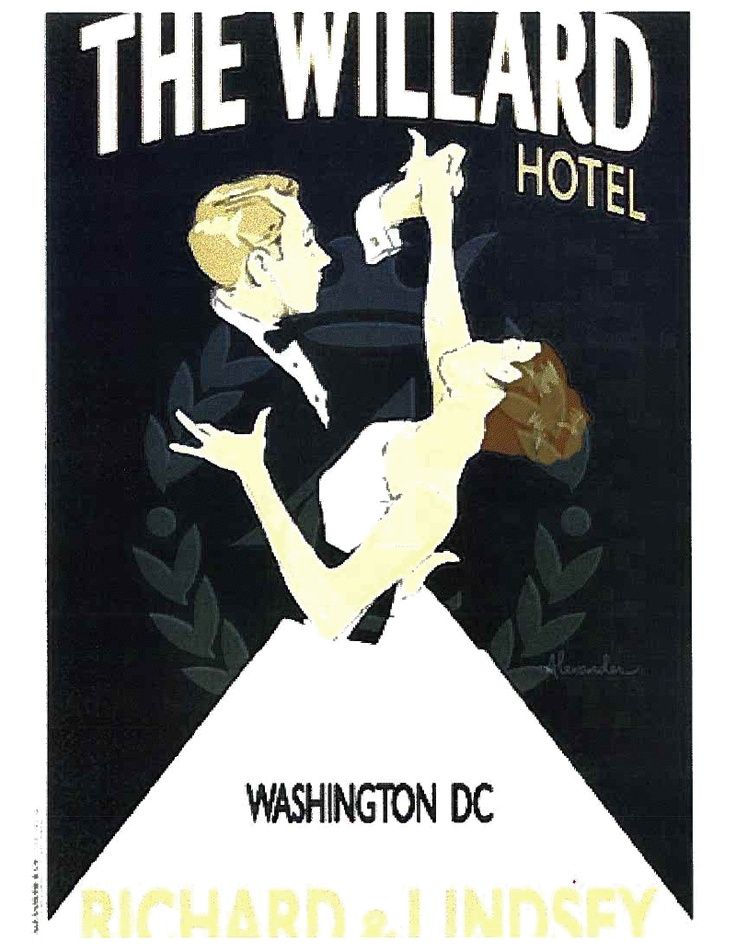 Vintage Wedding Poster The Willard Intercontinental Hotel