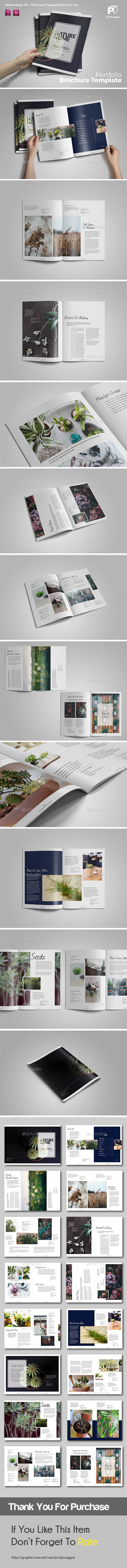 Clean Green Brochure Template InDesign INDD. Download here: http://graphicriver.net/item/clean-green-brochure/16056821?ref=ksioks